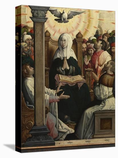 Pentecost-Juan de Flandes-Stretched Canvas Print
