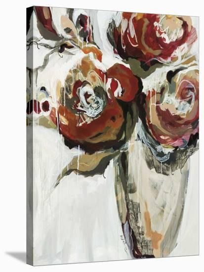 Persimmon Blooms-Angela Maritz-Stretched Canvas Print