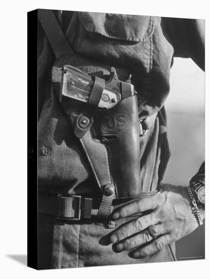 Photo of Lt. John Ernser's girlfriend, Leader of Infantry, Attack in German Fortification Positions-Margaret Bourke-White-Stretched Canvas Print
