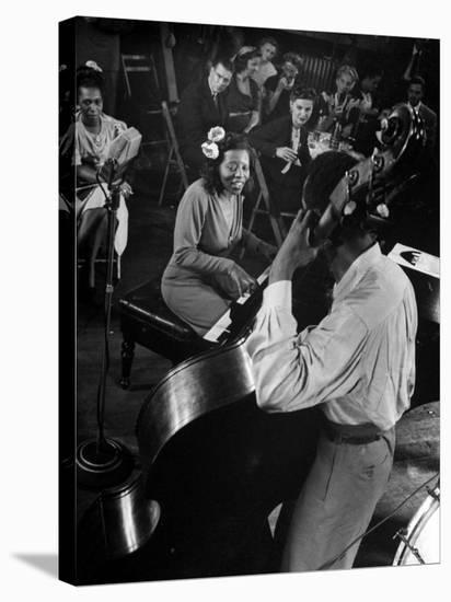 Pianist Mary Lou Williams Playing a Boogie Woogie Selection-Gjon Mili-Stretched Canvas Print