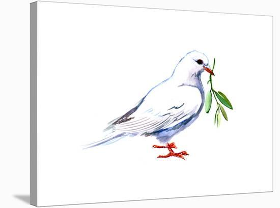 Pigeon 2-Suren Nersisyan-Stretched Canvas Print