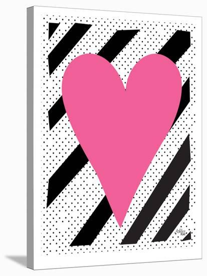 Pink Heart-Ashlee Rae-Stretched Canvas Print