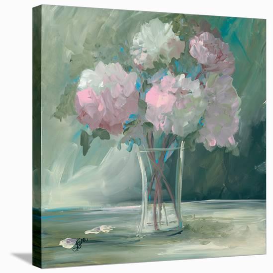 Pink Peonies-Terri Einer-Stretched Canvas Print