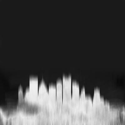 Pittsburgh City Skyline - White-NaxArt-Stretched Canvas Print