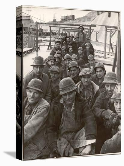Pittsburgh Steel Workers-Margaret Bourke-White-Stretched Canvas Print