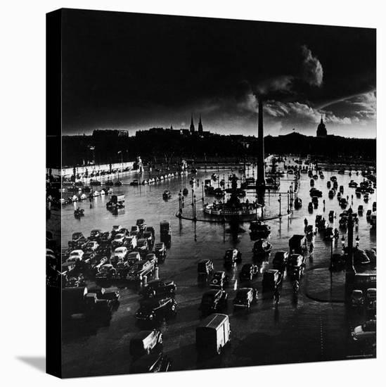 Place de La Concorde-Gordon Parks-Stretched Canvas Print