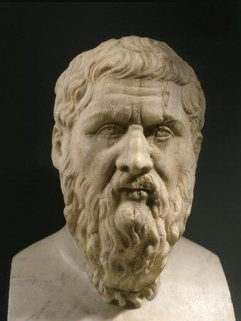 Plato, 428-348 BC, Greek philosopher, Marble Bust--Stretched Canvas Print