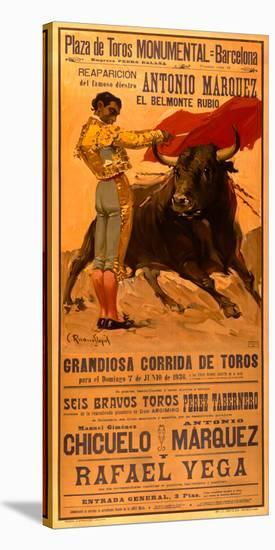 Plaza de Toros Bullfighting-Archivea Arts-Stretched Canvas Print