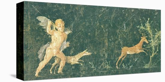 Pompeian Art - Putto Cocciatore--Stretched Canvas Print
