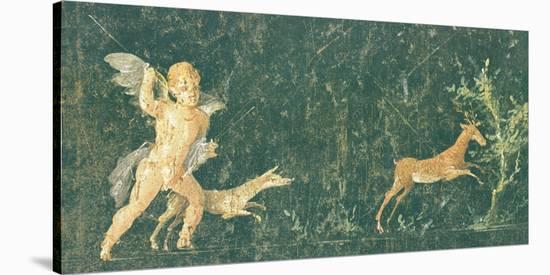 Pompeian Art - Putto Cocciatore--Stretched Canvas Print