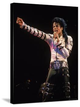 Pop Entertainer Michael Jackson Singing at Event-David Mcgough-Premier Image Canvas