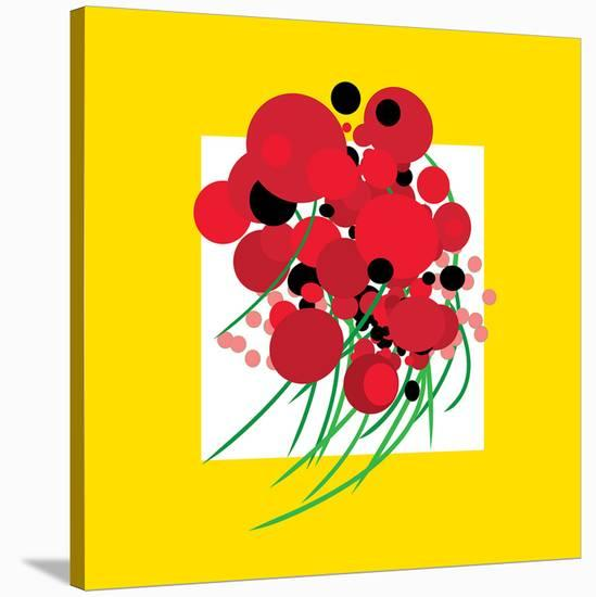 Poppin' Poppies--Stretched Canvas Print