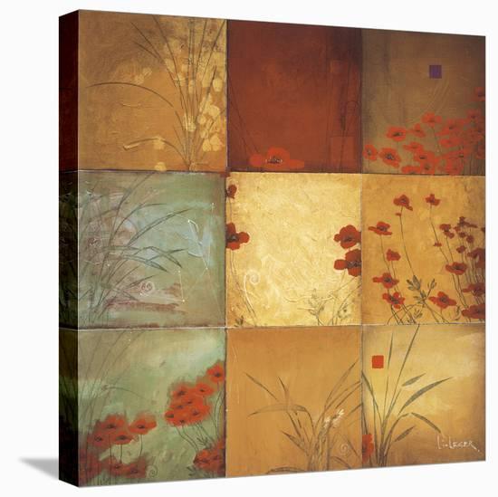 Poppy Nine Patch-Don Li-Leger-Stretched Canvas Print