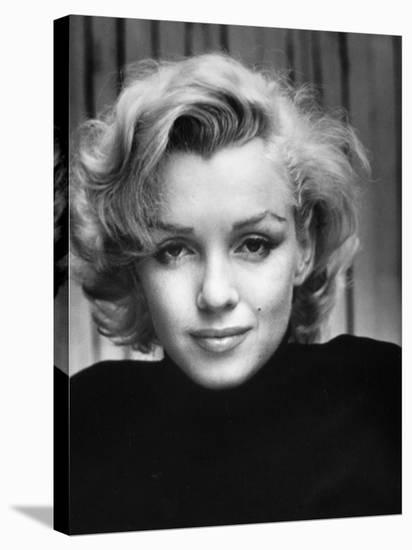Portrait of Actress Marilyn Monroe at Home-Alfred Eisenstaedt-Stretched Canvas Print