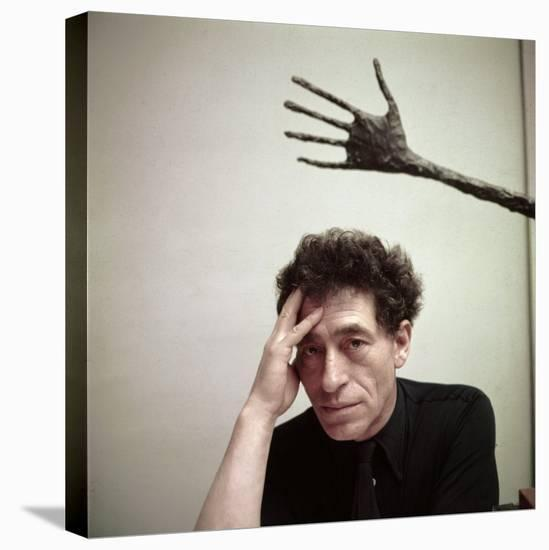 Portrait of Alberto Giacometti in His Studio-Gordon Parks-Stretched Canvas Print