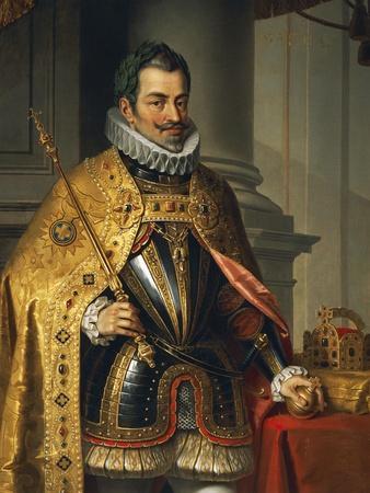 Portrait of Matthias of Austria--Stretched Canvas Print