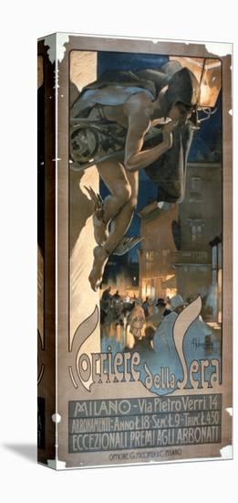 Poster Advertising the 'Corriere Della Sera', Printed in Milan, 1898-Adolfo Hohenstein-Premier Image Canvas