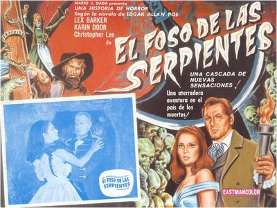 Poster for Mexican Version of Movie, Snake Pit--Stretched Canvas Print