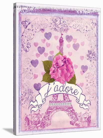 Pretty Paris Polaroid 2-Miyo Amori-Stretched Canvas Print