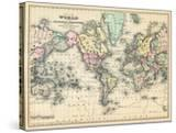 1876  World  Map of the World 1876