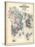 1884  Knox County Map  Maine  United States