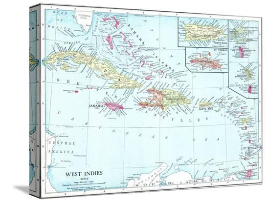 1913-bahamas-the-cuba-dominican-republic-jamaica-puerto-rico-central-america-west-indies