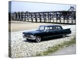A 1961 Cadillac Presidential Limousine on a Beach
