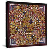 A Crazy Quilt Pattern Coverlet  1880-1890