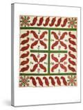 A Pieced and Appliqued Cotton Quilted Coverlet  Probably New Jersey  circa 1851