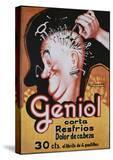 Geniol Poster with a Pierced Head