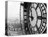Close-Up of the Clock Face of Big Ben  Houses of Parliament  Westminster  London  England