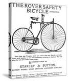 Advertisement for the Rover Safety Bicycle  1885