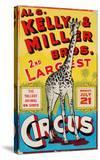 """Al G Kelly & Miller Bros 2nd Largest Circus: the Tallest Animal on Earth""  Circa 1941"