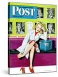 """The Model "" Saturday Evening Post Cover  April 17  1943"