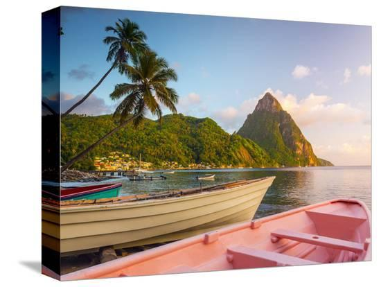 alan-copson-caribbean-st-lucia-soufriere-bay-soufriere-beach-and-petit-piton-traditional-fishing-boats