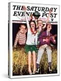 """""""Hayride """" Saturday Evening Post Cover  September 30  1933"""