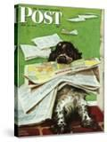 """Butch and the Sunday Paper "" Saturday Evening Post Cover  May 31  1947"