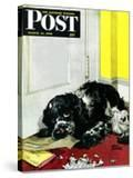 """Butch Chews the Mail "" Saturday Evening Post Cover  March 13  1948"