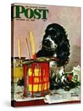 """Butch & Paint Cans "" Saturday Evening Post Cover  October 29  1949"