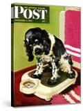 """Butch Weighs In "" Saturday Evening Post Cover  September 1  1945"