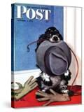 """Go for A Walk "" Saturday Evening Post Cover  October 7  1944"