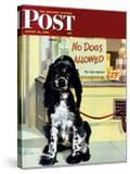 """No Dogs Allowed "" Saturday Evening Post Cover  August 24  1946"