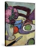 Still Life with Chair and Bouquet; Stilleben Mit Stuhl Und Blumenstrasse  1906