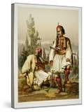 Albanians  Mercenaries in the Ottoman Army  Published by Lemercier  1857