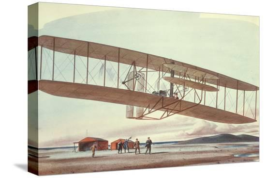 american-school-the-wright-brothers-at-kitty-hawk-north-carolina-in-1903