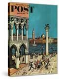 """American Tourists in Venice "" Saturday Evening Post Cover  June 10  1961"