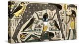 Ancient Egyptian Deities Shu Separating Sibu and Nuit