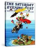 """""""Flying Cars """" Saturday Evening Post Cover  November 1  1983"""