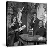 Antonella Lualdi  Her Husband Franco Interlenghi and Pier Paolo Pasolini Celebrate the First Day…