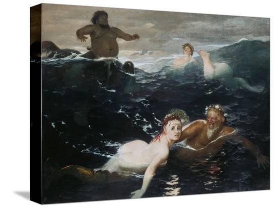 arnold-bocklin-amid-the-waves-1883